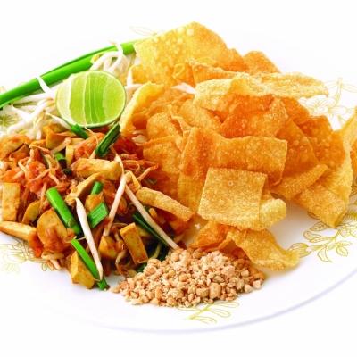 CRISPY WONTAN PAD-THAI SHRIMP